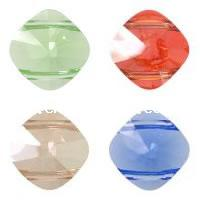 CRYSTALLIZED™ #5180 Crystal Square Bead Double Hole