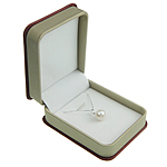 Freshwater Pearl Pendant, with Platinum, Round, white, 10-11mm, Hole:Approx 3x4mm, Sold By PC