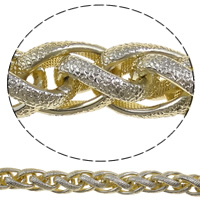 Aluminum Wheat Chain, more colors for choice, nickel, lead & cadmium free, 14x21x4mm, 100m/Lot, Sold By Lot