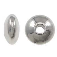 Stainless Steel Spacer Bead, Flat Round, different size for choice, original color, 20000PCs/Bag, Sold By Bag