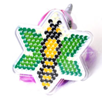 Hama Fuse Beads Pegboard, Plastic, Star of David, 5mm DIY fuse pegboards & with fuse beads template & transparent, white, 90x90mm, Sold By PC