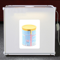 Mini Photo Studio, Acrylic, with ABS Plastic, Rectangle, white, 410x400x390mm, Sold By PC