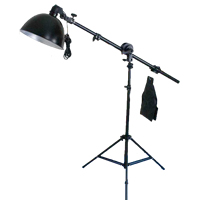 Photography Light Kit, Magnesium Aluminum Alloy, top light stand​ & lampshade & lamp holder & studio light crossbeam, with Ferromanganese Aluminium Alloy & Plastic, stoving varnish, nickel, lead & cadmium free, 270x160x1300mm, Sold By Set