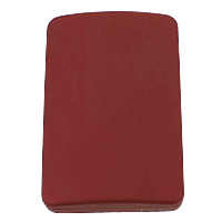 Plastic Pendant Box, with Velveteen, Rectangle, stoving varnish, red, 78x118x27mm, Sold By PC