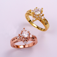 comeon® Finger Ring, Brass, plated, different size for choice & with cubic zirconia, more colors for choice, 14mm, Sold By PC