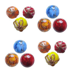 Gold Sand Lampwork Beads
