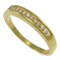 Cubic Zirconia Micro Pave Brass Finger Ring, plated, micro pave cubic zirconia, more colors for choice, nickel, lead & cadmium free, 3.5mm, US Ring Size:8, Sold By PC