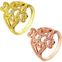 comeon® Finger Ring, Brass, plated, different size for choice & micro pave cubic zirconia, more colors for choice, 20mm, Sold By PC