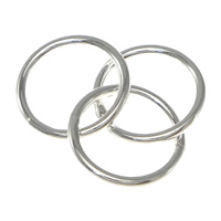 Sterling Silver Soldered Jump Ring, 925 Sterling Silver, Donut, plated, more colors for choice, 8x1mm, 50Sets/Bag, Sold By Bag