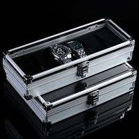 Aluminum Watch Box, with Velveteen & Acrylic, Rectangle, different size for choice, Sold By PC