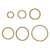 Gold Filled Machine Cut Closed Jump Ring, Donut, 14K gold-filled & different size for choice, Sold By PC