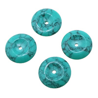 Imitation Gemstone Resin Beads, Flat Round, imitation turquoise, light blue, 10.5x2.5mm, Hole:Approx 1mm, Sold By PC