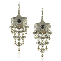 Resin Zinc Alloy Earring, with Resin, brass earring hook, platinum color plated, blacken, nickel, lead & cadmium free, 150mm, 45mm, 43mm, 55mm, Sold By Pair