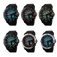 comeon® Unisex Jewelry Watch, Silicone, with Plastic, LED, more colors for choice, 48mm, Length:Approx 10 Inch, Sold By PC