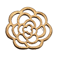 Zinc Alloy Jewelry Cabochons, Flower, antique gold color plated, hollow, 22x22x1.5mm, Sold By PC