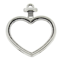 Zinc Alloy Heart Pendants, antique silver color plated, lead & cadmium free, 30x35x3mm, Hole:Approx 1mm, Sold By PC