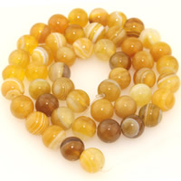 Natural Lace Agate Beads, Round, different size for choice, orange, Length:Approx 15.5 Inch, Sold By Strand