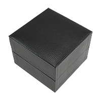 Cardboard Watch Box, PU, with Cardboard & Velveteen, Square, black, 100x100x73mm, Sold By PC