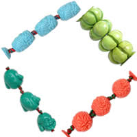Carved Turquoise Beads