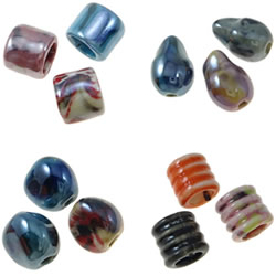 Pearlized Porcelain Beads