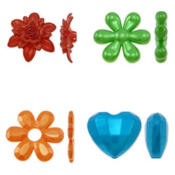 Pearlized Acrylic Beads
