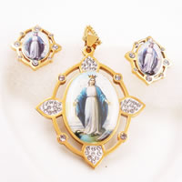 Stainless Steel Saint Jewelry Sets
