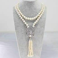 Freshwater Pearl Sweater Chain Necklace