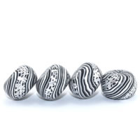 Rondelle Polymer Clay Beads