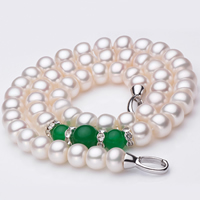 Agate Freshwater Pearl Necklace