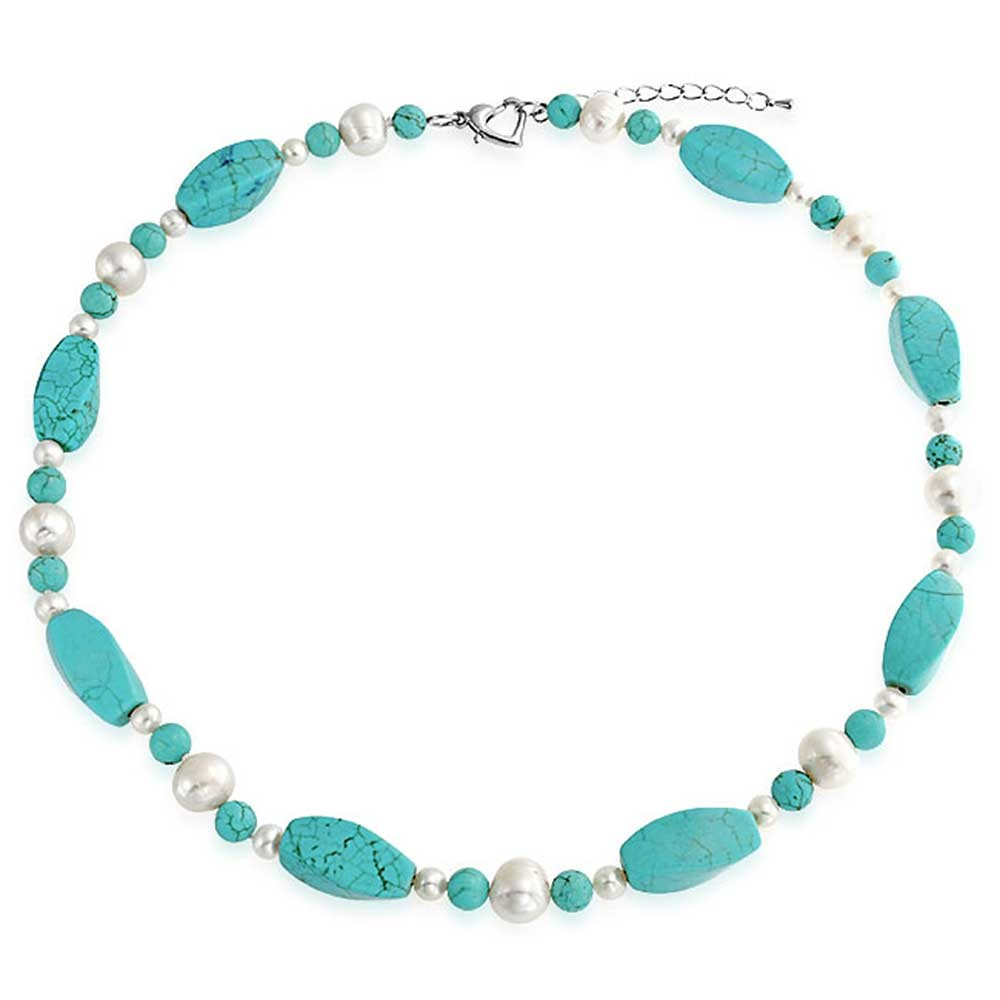 Turquoise Freshwater Pearl Necklace