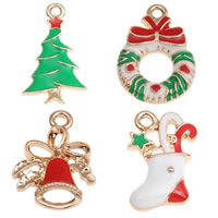 Zinc Alloy Christmas Pendants