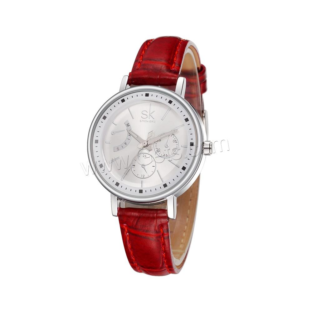 Plutonium Platinum: SHENGKE® Women Jewelry Watch PU Leather With Zinc Alloy