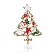 broche joyera navidad aleacin de zinc con cadena de hierro rbol de navidad